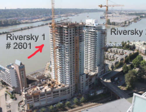 Exclusive Assignment – 2601 Riversky 1 by Bosa with Fraser River View, High Floor, Parking & Storage