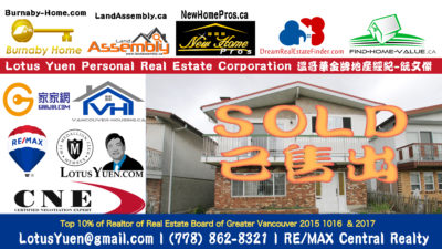 SOLD 2059 54th Ave Vancouver Special House for Sale by Lotus Yuen Vancouver Realtor & Real Estate Expert