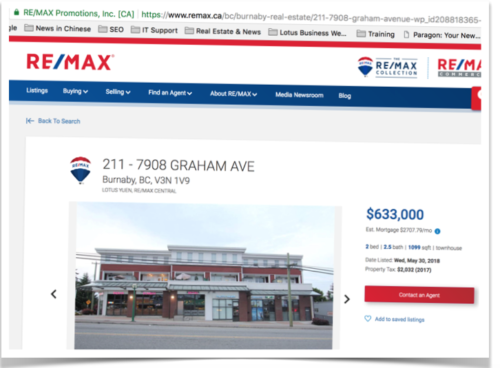 Remax marketing with Lotus Yuen