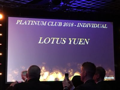 Platinum Club 2018 Individual - Lotus Yuen