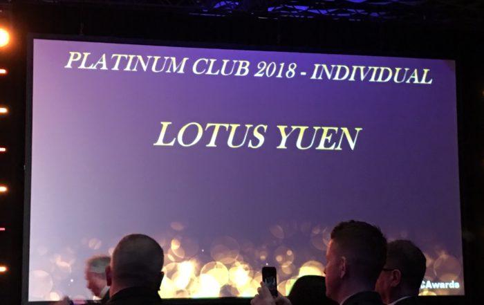 Platinum Club 2018 Individual - Lotus Yuen