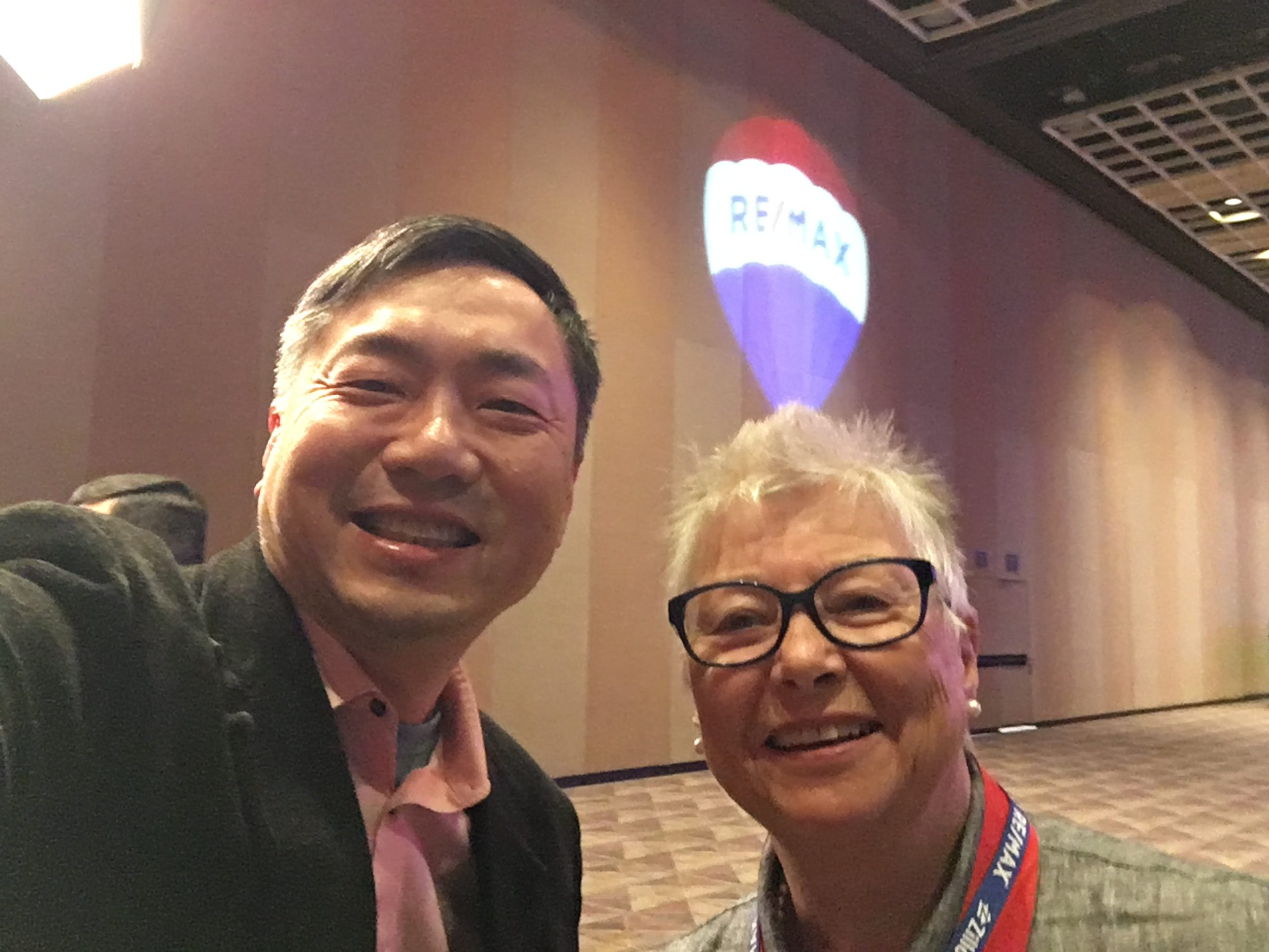 Lotus Yuen with Deborah Upton CEO of Remax Central, Remax Masters, Remax Crest