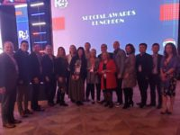 Lotus Yuen with David Tang, Melvin Tang and other award agents