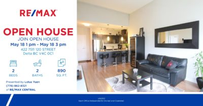open house 422 7511 120 st Delta Condo for sale by Lotus Yuen PREC