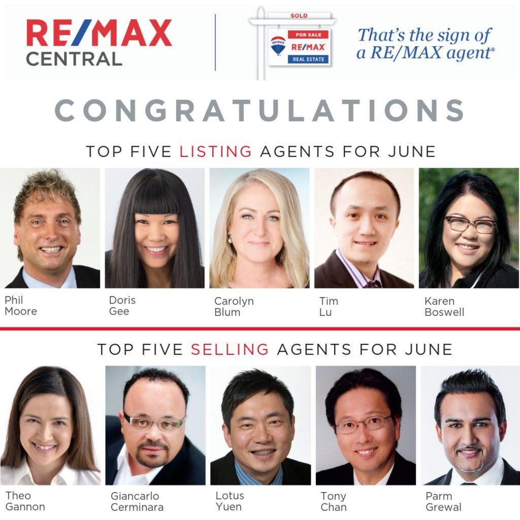 Top 5 Selling Realtor June 2019