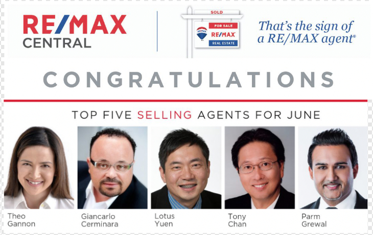 Top 5 Selling Realtor June 2019 only