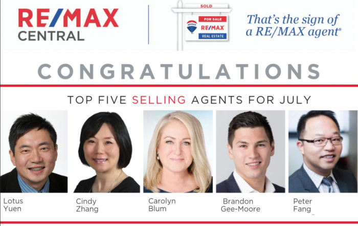 Top 5 Selling Realtor only July 2019 (Filter)