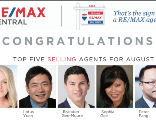 Top 5 Selling Real Estate Agent Remax Central Realty Aug2019