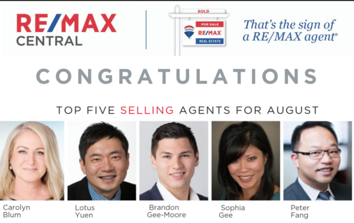 Top 5 Selling Realtor Aug 2019 with Lotus Yuen PREC