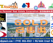 SOLD - 4609 4670 ASSEMBLY WAY Burnaby