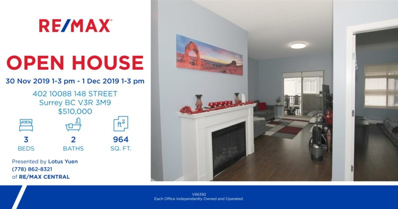 Open house 30Nov and 1Dec 1-3pm 402_10088_148_STREET