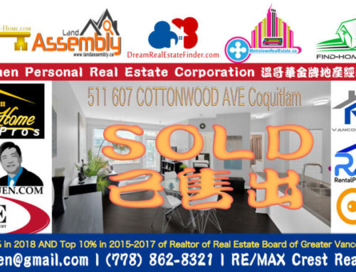 SOLD Coquitlam Condo at 511 607 COTTONWOOD AVE