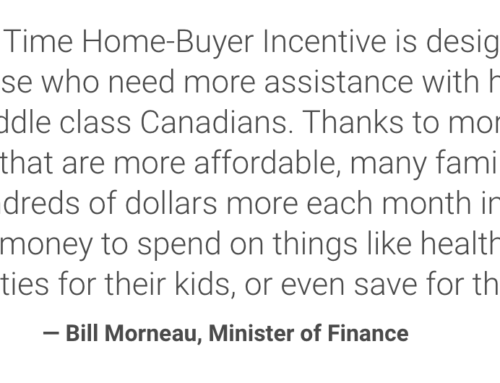 First-Time Home Buyer Incentive from Federal Government