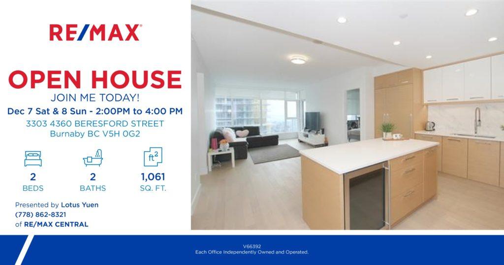 Open house Dec 7 & 8 - 3303_4360_BERESFORD_STREET