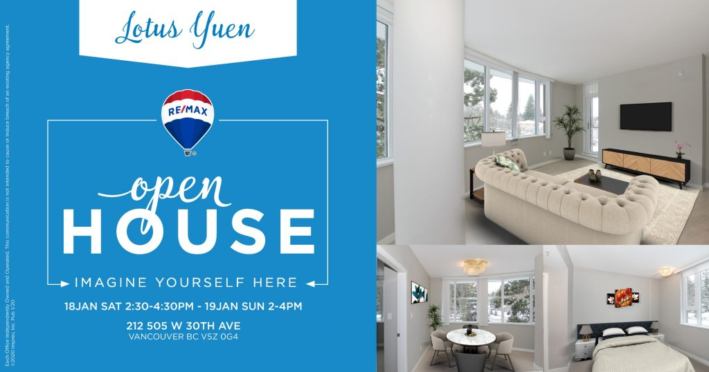Open House - 212 505 West 30th Ave Vancouver Luxury Condo for Sale by Lotus Yuen