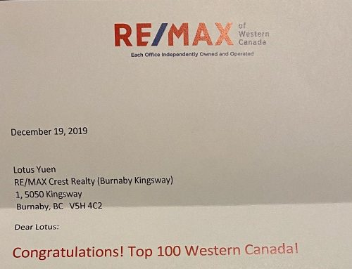 RE/MAX WESTERN CANADA TOP 100 REALTORS (Nov 2019)