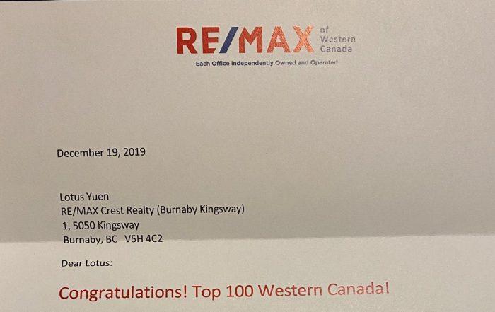 Top 100 Realtor REMAX Western Canada
