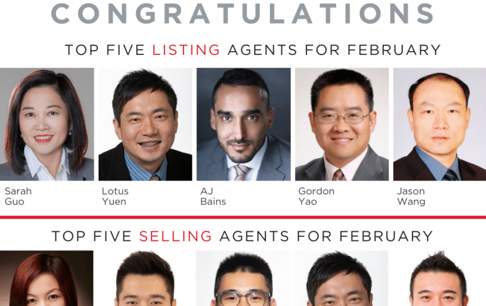 Top 5 Selling Realtor and Listing Realtor Feb2020 with Lotus Yuen PREC