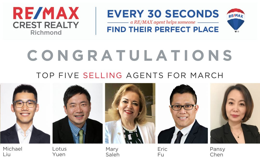 Top 5 Selling Real Estate Agent March 2020