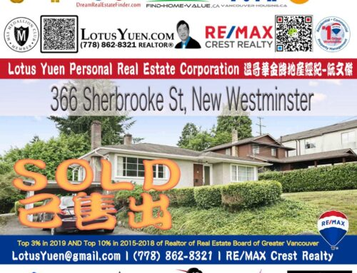 SOLD: 366 SHERBROOKE STREET New Westminster