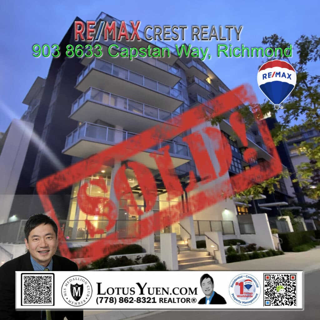 SOLD: Richmond Condo For Sale by Lotus Yuen PREC
