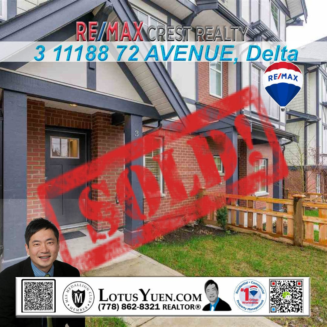 SOLD : 3 11188 72 AVENUE Delta Townhouse