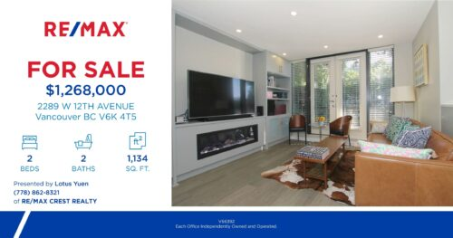 2289 West 12th Ave, Vancouver townhouse for sale