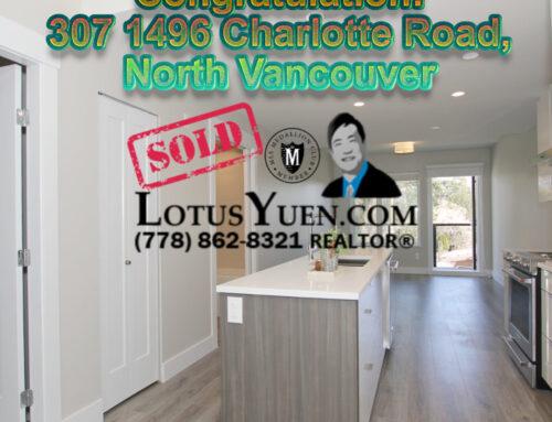 SOLD – 307 1496 Charlotte Road, North Vancouver Condo for Sale
