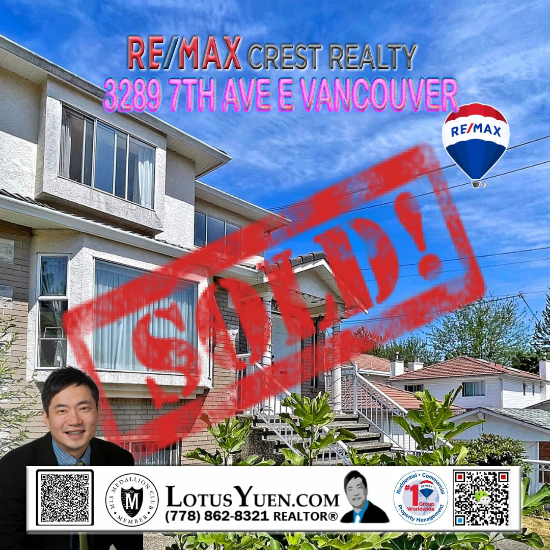 SOLD - 3289 7TH AVE E VANCOUVER