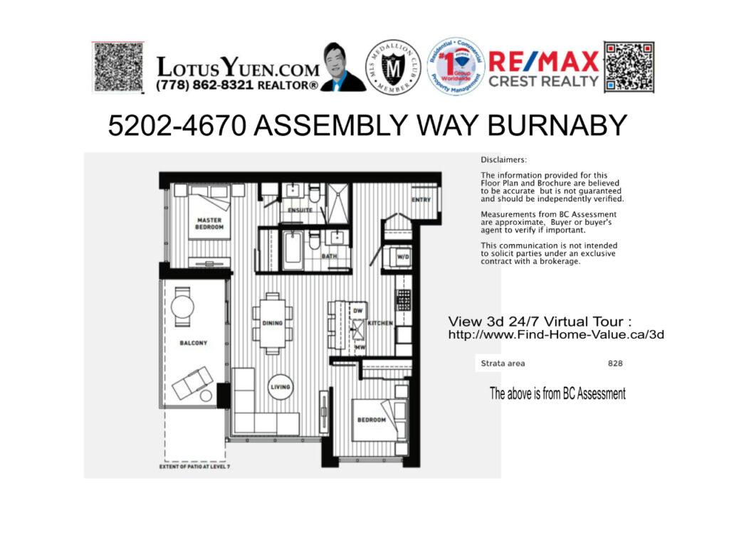 5202 4670 Assembly Way Burnaby floorplan